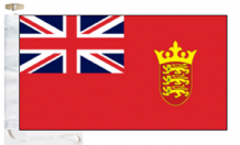 Channel Islands Jersey Red Ensign Courtesy Boat Flags (Roped and Toggled)